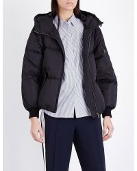 Mo&co. - Hooded Quilted Shell Jacket - Lyst