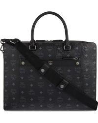 MCM - Markus Visetos Leather Briefcase - Lyst