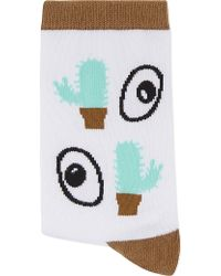Mini Cream | Eye And Cactus Socks | Lyst