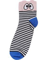 Mini Cream - Eyes And Stripes Socks - Lyst