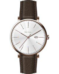 Paul Smith - P10082 Track Rose Gold-plated Stainless Steel And Leather Watch - Lyst