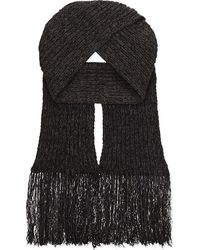 Pringle of Scotland - Cable Knit Wool Scarf - Lyst