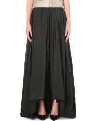 Max Mara Elegante - Pleated Maxi Skirt - Lyst
