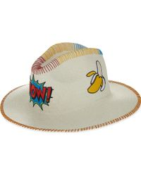 Sara Designs - Wow Patch Panama Hat - Lyst