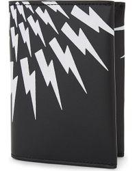 Neil Barrett - Lightning Bolt Print Wallet - Lyst