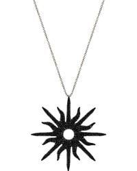 Christina Debs - Sunshine 18ct White-gold And Diamond Pendant - Lyst