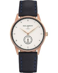 PAUL HEWITT - Signature Rose-gold Plated Watch - Lyst