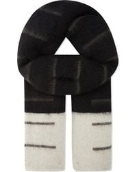 Rick Owens - Mohair Striped Scarf - Lyst