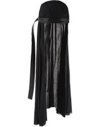 Rick Owens - Silk And Leather Doo Rag - Lyst