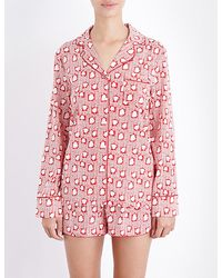 Stella McCartney - Poppy Snoozing Stretch-silk Pyjama Set - Lyst