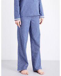 Calvin Klein - Check-pattern Cotton-flannel Pyjama Bottoms - Lyst