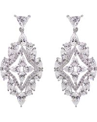 Carat* - Antoinette Solitaire Chandelier Earrings - Lyst