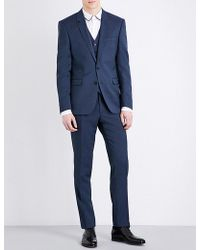 Sandro - Tailored-fit Notch-lapel Pure-wool Jacket - Lyst