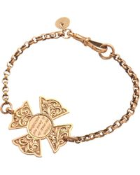 Annina Vogel - 9ct Rose-gold Women Are Made To Be Loved Medallion Antique Bracelet - Lyst