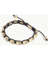 Nialaya - Skull Bead Bracelet - Lyst
