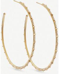 Kendra Scott - Nia 18ct Yellow-gold And Diamond Hoop Earrings - Lyst
