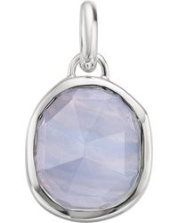 Monica Vinader - Siren Medium Sterling Silver And Agate Pendant - Lyst