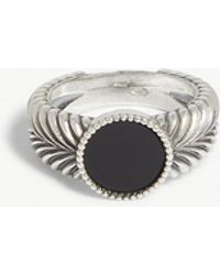 Emanuele Bicocchi - Gem-embellished Feather Silver Ring - Lyst