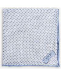 Corneliani - Printed Linen Pocket Square - Lyst