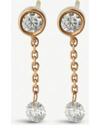 The Alkemistry - 18ct Rose-gold And Diamond Chain-drop Earrings - Lyst