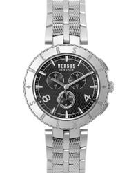 Versus - S76140017 Logo Chrono Stainless Steel Watch - Lyst