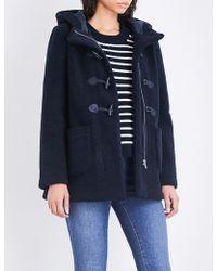 Maje | Givry Oversized Faux-shearling Coat | Lyst