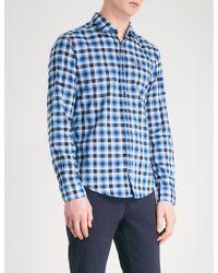 BOSS Green - Checked Regular-fit Cotton Shirt - Lyst
