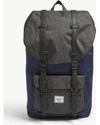 Herschel Supply Co. - . Peacoat Dark Blue And Black Crosshatch Little America Backpack - Lyst