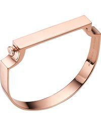 Monica Vinader - Signature 18ct Rose Gold-plated Bangle - Lyst
