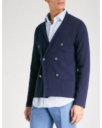 Slowear - Milano Double-breasted Cotton Cardigan - Lyst