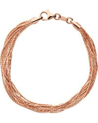 Links of London - Essentials 18ct Rose Gold-plated Silk 10 Row Bracelet - Lyst