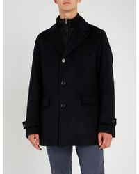 BOSS - Gilet-lined Wool And Cashmere Coat - Lyst