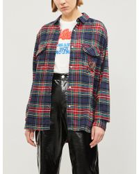 The Kooples - Plaid Fleur De Lys Cotton-flannel Shirt - Lyst