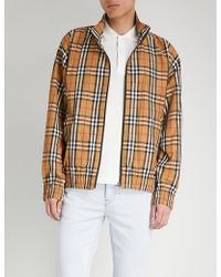 Burberry - Peckham Checked Shell Jacket - Lyst
