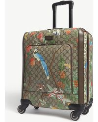 Gucci - Gg Supreme Four-wheel Cabin Suitcase - Lyst