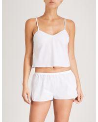 Les Girls, Les Boys | Lace-trimmed Cotton Pyjama Top | Lyst