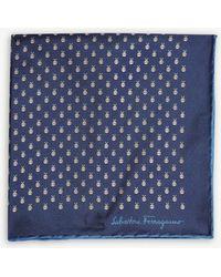 Ferragamo - Bee And Ladybird Silk Pocket Square - Lyst