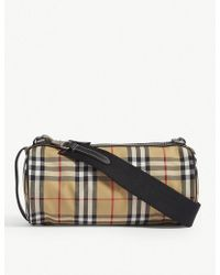Burberry - Kennedy Vintage Check Canvas Cross-body Bag - Lyst