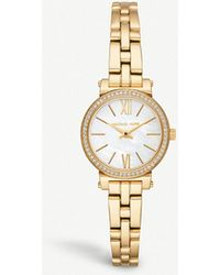 Michael Kors - Mk3833 Sofie Yellow Gold-toned Stainless Steel Watch - Lyst