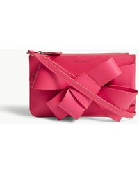 Delpozo | Bow Detail Leather Mini Cross-body Bag | Lyst