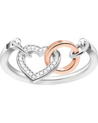 Thomas Sabo - Together Heart Sterling Silver And Diamond Ring - Lyst