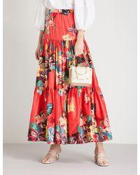 Alexis - Gauri Floral-print Cotton Maxi Skirt - Lyst
