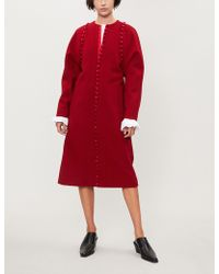 Thom Browne - Bridal Buttoned Trims Wool Coat - Lyst