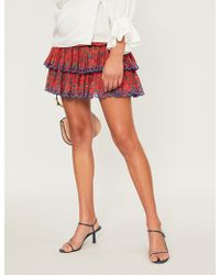 Étoile Isabel Marant - Tiered Floral-print Cotton-woven Skirt - Lyst