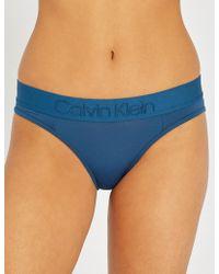 Calvin Klein - Tonal Logo Stretch-jersey Bikini Briefs - Lyst