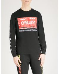 Oakley - Thermonuclear Protection Cotton-jersey Top - Lyst