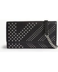 Karl Lagerfeld - Karl Lagerfeld X Kaia Rocky Leather Wallet-on-chain - Lyst