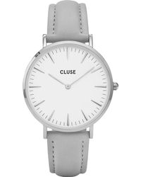 Cluse - Cl18215 La Bohème Stainless Steel And Leather Watch - Lyst