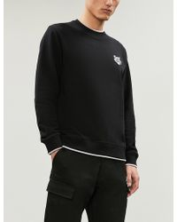 KENZO - Logo-embroidered Cotton-jersey Sweatshirt - Lyst