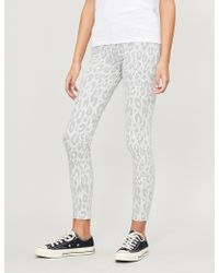 7 For All Mankind - The Skinny Crop Leopard-print High-rise Skinny Jeans - Lyst